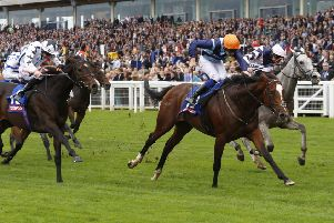 Accidental Agent ridden by Charles Bishop to victory in the totescoop6 Challenge Cup at Ascot a couple of seasons ago in 2017. Picture: Julian Herbert/PA Wire.