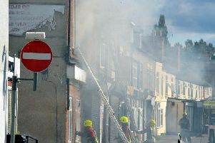 These photographs of the scene were sent in by a resident.