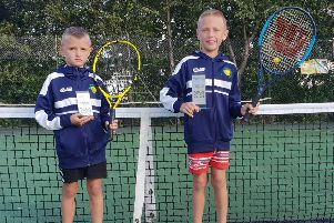 Neo and Max Hodkinson produced impressive displays at the Yorkshire Junior Tennis Championships.