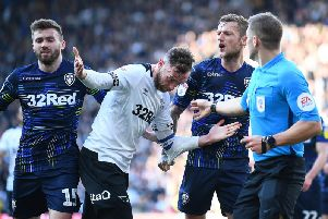 Leeds and Derby will meet again on Saturday after meeting four times last season (Pic: Getty)