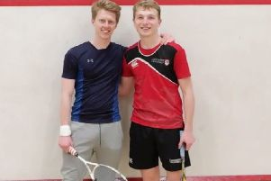 Ben Jolly and Charlie Collett are undertaking a squash marathon in aid of Alzheimer's Society.
