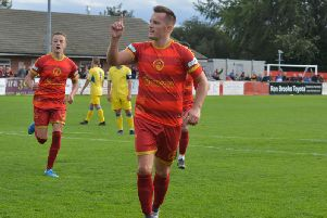 Shaun Harrad nodded home the Robins goal in the first-half.