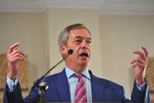 Mr Farage was the latest in a long line of high-profile speakers, including Kriss Akabusi and Warwick Davis. PHOTO: Gerard Binks.