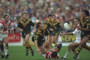 St Helens faced the mighty Australians in 1990
