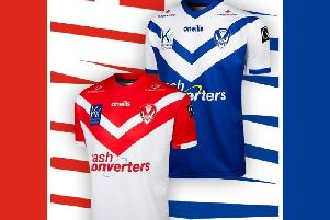 The new Saints home and away shirts