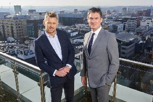 Gerard Downes (left), of Capital Property Partners, and Chris Gilman, of GMI Property, who have joined forces to launch Urban Life Developments. Picture: johnhoulihan.com