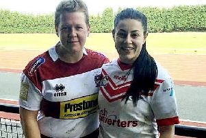 Gemma Walsh (left) who has left Wigan Warriors to join wife Emily Rudge at St Helens.