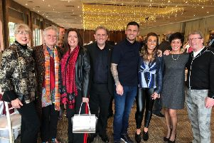 From left, Jackie Oldham (Chair of Trustees, St Ann's Hospice); Noddy Holder and wife Suzan; Eamonn O'Neal (Chief Executive, St Ann's); Martin Murray and wife Gemma; Paula Loftus and husband Pat.