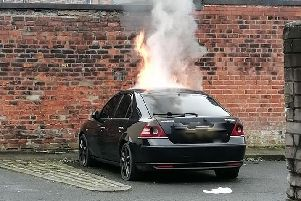 Police said they are treating the incident as arson. Credit: Matthew James Farrow