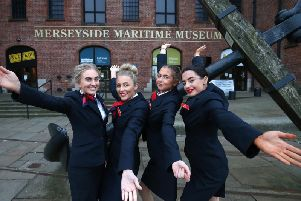 St Helens College Cabin Crew students launch Visitor Economy Week at the Maritime Museum