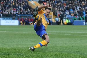 Nicky Maynard wasted chances for the Stags.shoots