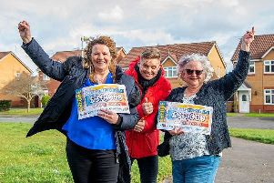 Carole Williams, People's Postcode Lottery ambassador, Jeff Brazier, and Susan Sherratt