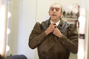 Craige Els prepares to take to the stage as Miss Trunchbull in Matilda - The Musical