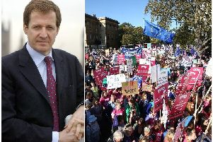 Hundreds of thousands turned out for the Peoples Vote march on Saturday, which was backed by Alistair Campbell, left