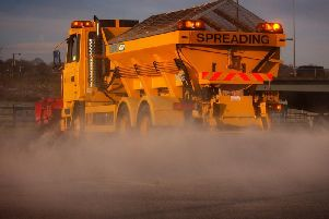 Lancashire's gritter lorries were out yesterday ahead of forecasts of snow