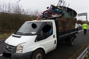 The van seized by police