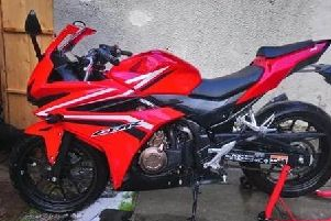 The bike recovered during the police operation