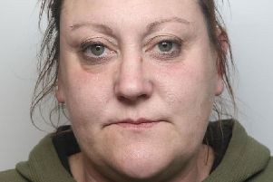 Pictured is Kathryn Irons, 37, of Welbeck Street, Creswell, who was jailed for 22 weeks after she admitted a theft, two assaults and breaching a suspended prison sentence.
