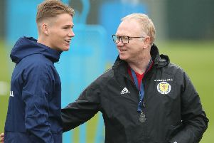 Scott McTominay training with Scotland. Photo by Ian MacNicol/Getty Images.