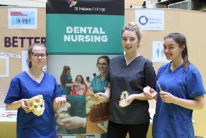 Dental apprentices from St Helens College at the event