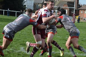 Jake Wilson produced a man-of-the-match performance on his 30th birthday to help Thornhill Trojans register their first win in the National Conference Premier Division on Saturday. Picture: Dave Jewitt