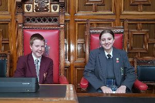Ben and Morgen in St Helens Council's chamber