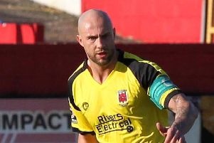 Andy Teague found the net at Moss Lane