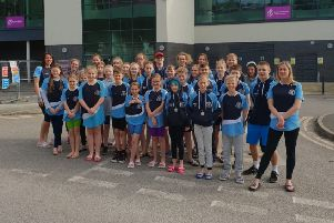 Ilkeston's successful swimmers.