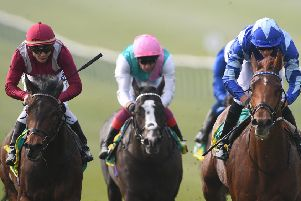 Skardu (right) is set to line up in the 2000 Guineas after landing Newmarket's Craven Stakes under James Doyle.