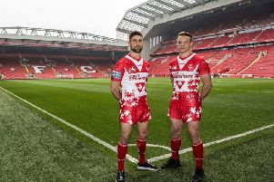 Tommy Makinson and Jonny Lomax at Anfield