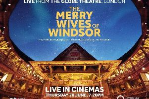 Cineworld in St Helens will broadcast live a production of The Merry Wives of Windsor from Shakespeare's Globe in London in June
