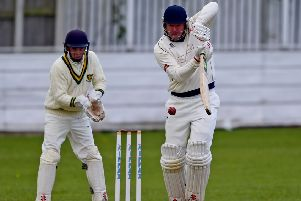 John Wood led the way with a half century for Cleckheaton but it wasn't enough to prevent his side suffering defeat to Wrenthopre in the Bradford Premier League last Saturday. Pic: Paul Butterfield