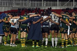 St helens hosted the World Cup game between Australia and Fiji in 2013. Picture: SWpix