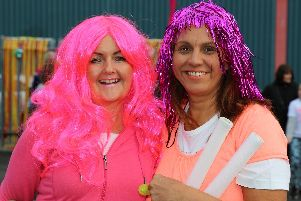 Participants in the Moonlight Colour Walk for Willowbrook Hospice