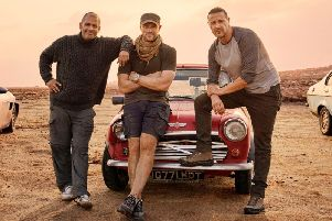 Chris Harris, Freddie Flintoff and Paddy McGuinness present Top Gear