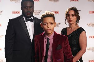 Babou Ceesay, Max Fincham and Jill Halfpenny in Dark Money