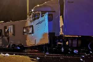 The crash happened on the northbound M6, near junction 22 (Haydock) at around 10.30pm last night (July 14)