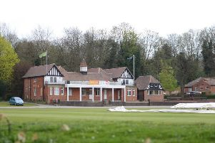 Queen's Park cricket pavilion, at Chesterfield.