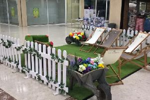 The pop-up park at the Hardshaw Centre