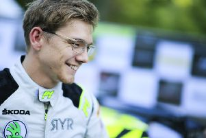 Chesterfield rally driver Rhys Yates.