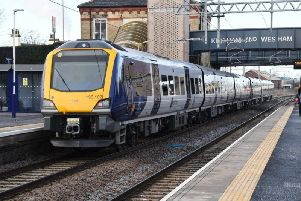 A Northern train at Kirkham and Wesham station