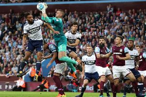 Sam Johnstone claims the ball. PA Picture.