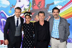 Josh Brolin and Ryan Reynolds publicising Deadpool 2.