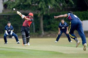 Tom Latham in action for Durham.