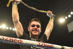 Tommy Ward with the Lonsdale belt he won in 2017.