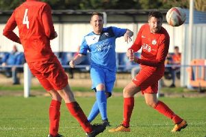 Action from Rossington Main's clash with Parkgate. Picture: Russ Sheppard
