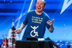 Lee Ridley performing on Britain's Got Talent. Picture: PA.