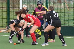 Summer Muirhead is pictured in the Lakes 'D'. She went on to score a hat-trick on Sunday to help Lancashire win the North West Under-21s tournament.