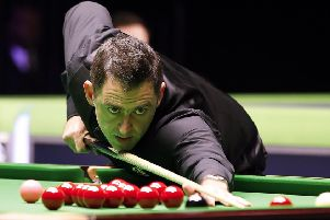 Ronnie O'Sullivan in action at York (Picture: Martin Rickett/PA Wire)