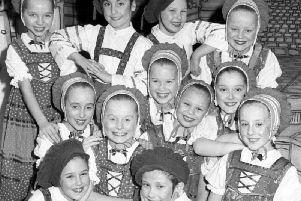 Dancers from Muriel Harrison School of Dance appearing at Sunderland's Empire Theatre in Mother Goose.